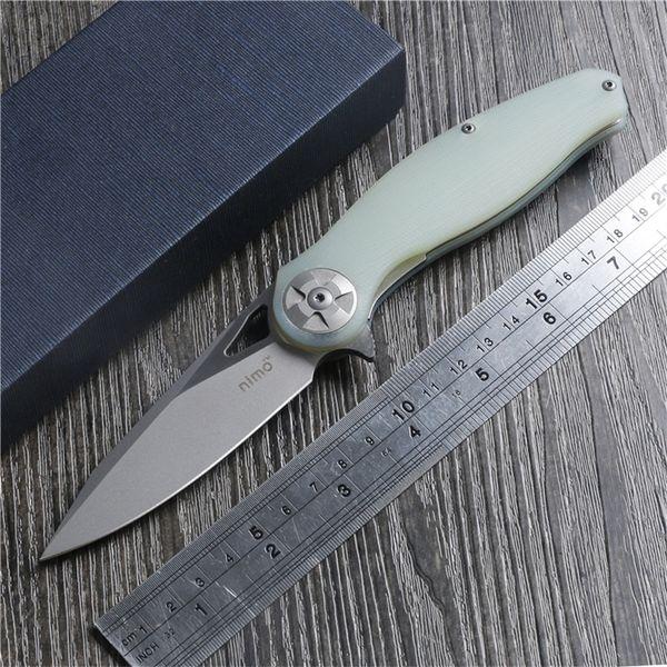 Nimo 1701 cuchillo plegable m390 cuchillo 100% m390 + G10 diseño original mango sistema de cojinete de bolas defensa de pesca cuchillo de bolsillo envío gratis