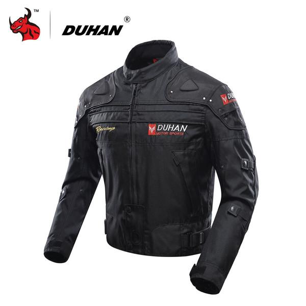 Acheter Duhan Vêtements De Automne Protection Vent D'équitation Complet Hiver Veste Équipement Moto Coupe Armure Chauffage UVzSMp
