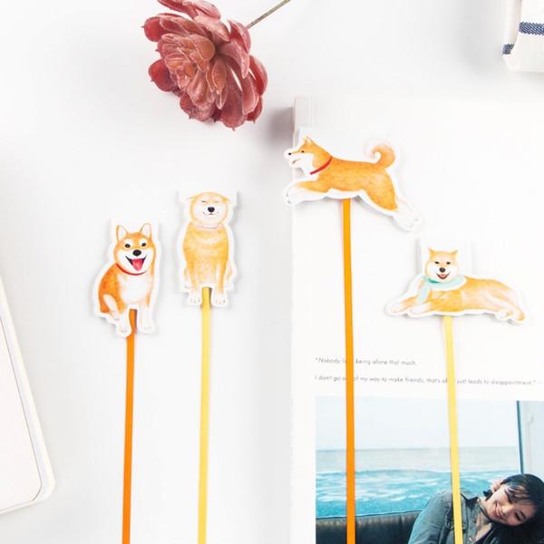 Kawaii Shiba Hündchen Magnetische Lesezeichen Mit Band Bücher Marker Seite Schreibwaren Bürobedarf Büroklammer