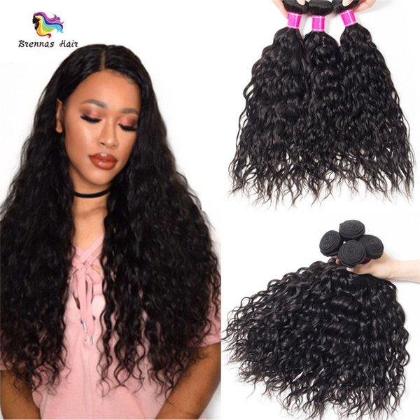 100% Unprocessed Human Hair Natural Water Wave Weave extensions 1B Color Dyeable Washable Bundle Weft for African American Women uk eu