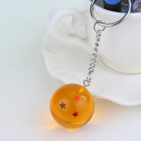 Anime Dragon Ball Keychain From 1 to 7 Star Complete set Dragon Ball Crystal Balls PVC Figures Toys dhl shipping.