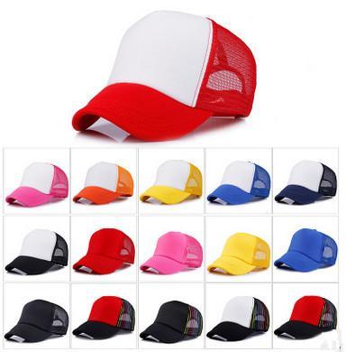 2018 High Quality 13 Color Truck Driver Cap Adult Cat Hat Blank Truck Driver Cap Snapback Hat Custom Logo 20pcs