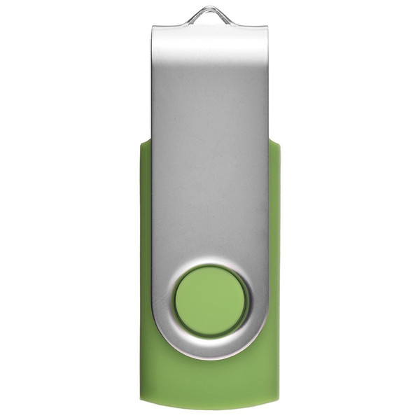 Green Metal Rotating 64GB USB 2.0 Flash Drives 64gb Swivel Flash Pen Drive Enough Memory Stick for PC Laptop Macbook Tablet Thumb Storage
