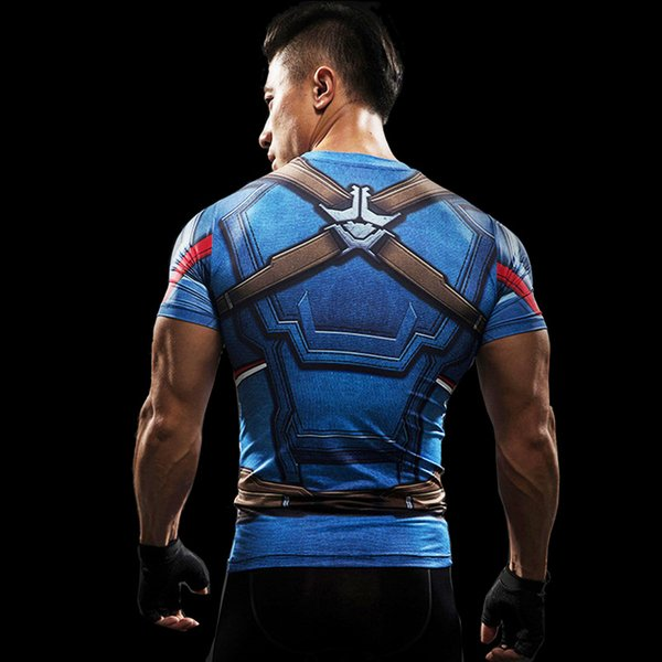 2018 Marvel T shirt Superhero Winter Soldier Bucky 3D Men Fitness Crossfit T-Shirt Short Sleeve Compression Shirt Mens MMA