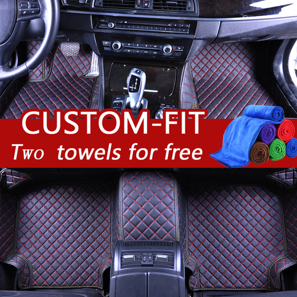 top popular Custom car floor mats for bmw e30 e34 luxury leather mats for cars waterproof custom fit cover light dust-proof protects stains 2019