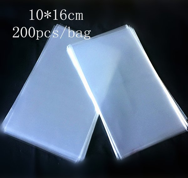 Transparent Plastic Big Lollipop Package Bag Food Grade Opp Popsicle Package Pouch Ice Cream Cake Chocolate Baking Pack 10*16cm 200pcs/lot