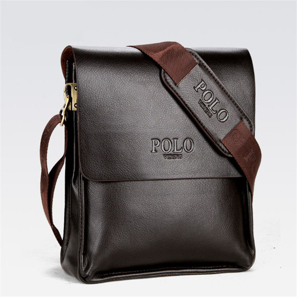 Mens Briefcase Business Bags Casual Business PU Leather Mens Messenger Bag Vintage Men's Crossbody Bag Bolsas Black Brown Shoulder Bags