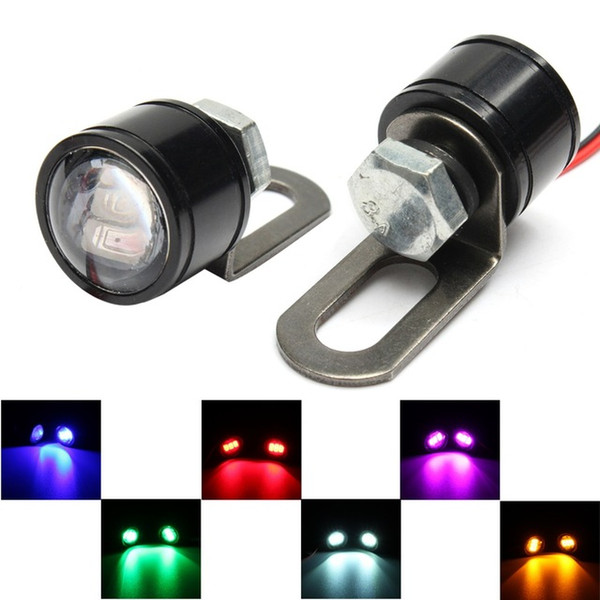 1Pair 12V Motorcycle Mirror Mount Eagle Eye LED Flash Strobe Backup DRL Lights Lamp 1W 0.1A 50lm