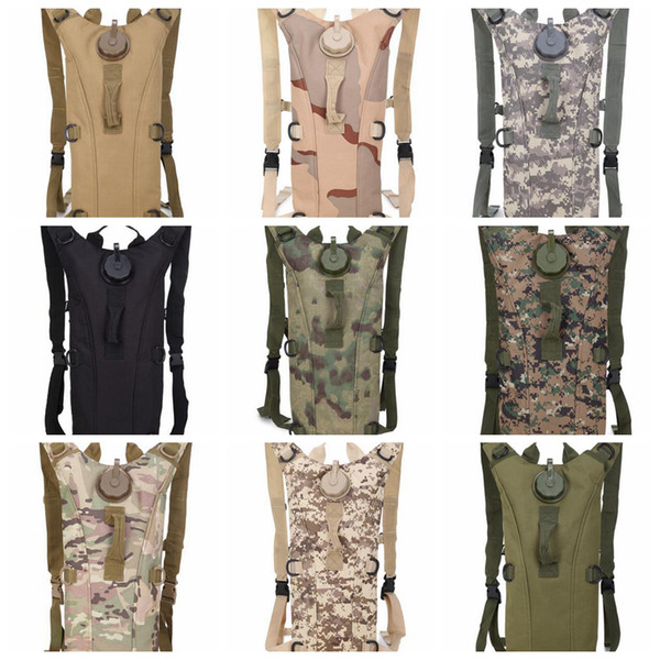 best selling 3L bolsa camelback Camouflage Water Pack Tactical molle Hydration Packs running Camping Bicycle Water Bag Backpack Vest LJJD19