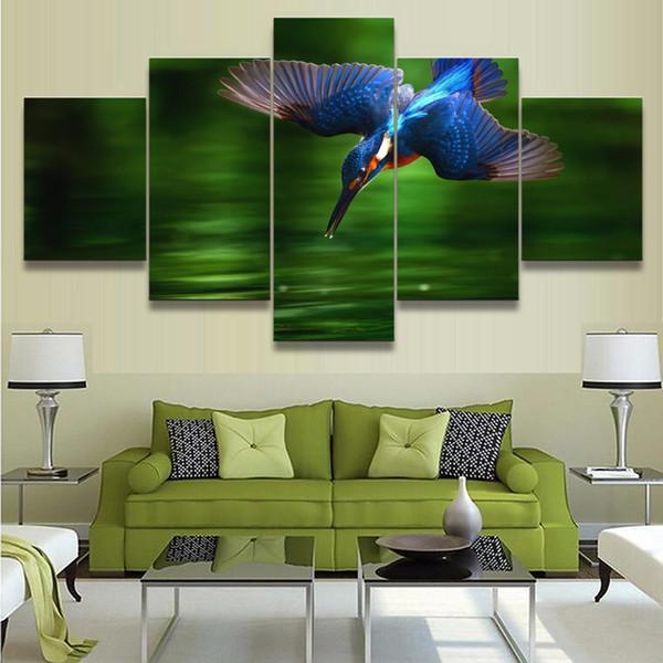 Wunderbar JIE DO ART Wandkunst Leinwand Gemälde Für Moderne Wohnzimmer Oder  Schlafzimmer Hause Dekorative 5 Panel Tier