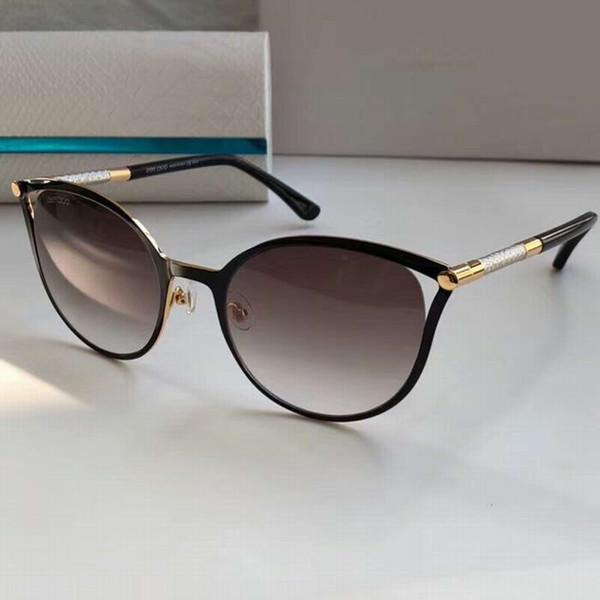 Lunettes de soleil papillon yeux de chat Neiza S Marron Or Rose Marron 56mm Femmes Lunettes de luxe Designer Gafas de sol new avec étui
