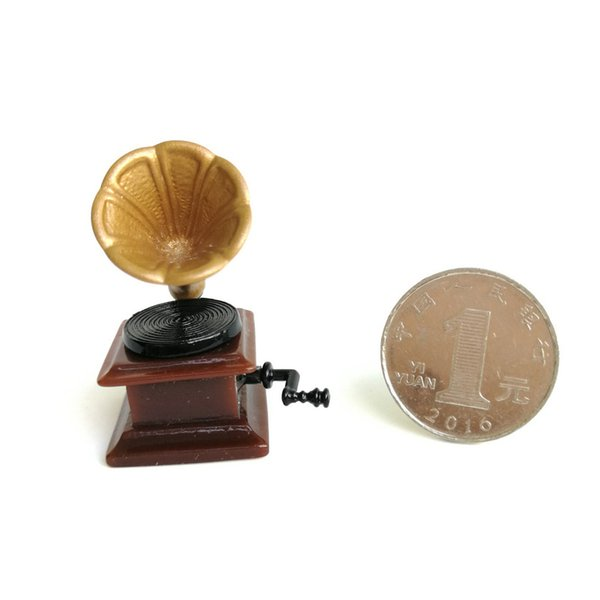 top popular 1:12 Scale Miniature Phonograph Dollhouse Accessory Gramophone Pencil Sharpener 2021