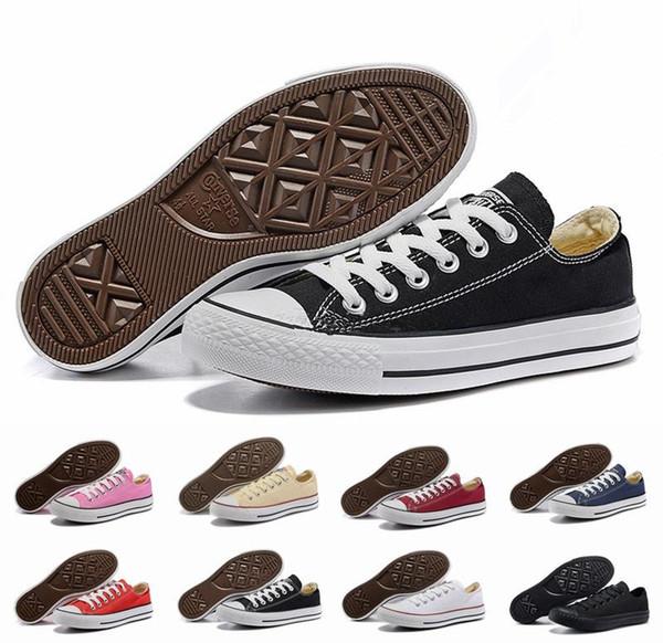 Prix usine prix promotionnel! Femininas toile chaussures femmes et hommes, haute / Low Style Classique Toile Chaussures Sneakers Toile Chaussure