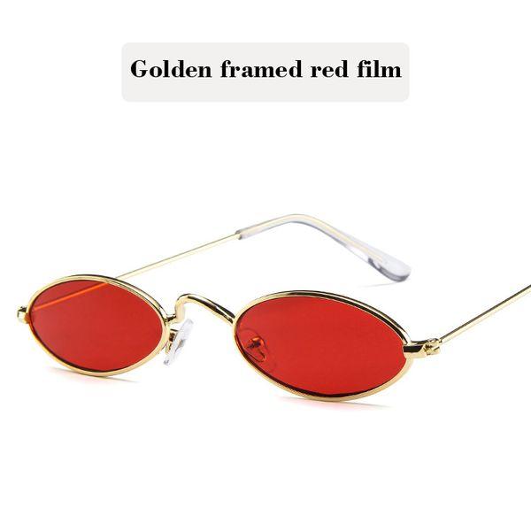 Golden framed red film