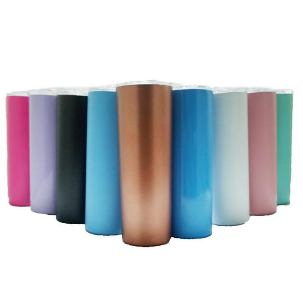Bicchierini magici in acciaio inox da 20 once Bicchierini sottili Bicchiere da caffè a doppia parete Tazza termica da thermos con cannucce
