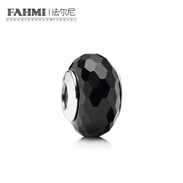 FAHMI 100% 925 Sterling Silver 1: 1 Original Glass Beads 791069 Authentic Temperament Fashion Glamour Retro Wedding Jewelry donna