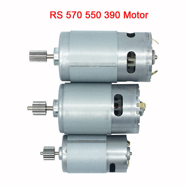 best selling 570 550 390 DC motor for children's electric car kid's toys car remote control cars, electric motor for electric car 12V 6V engine