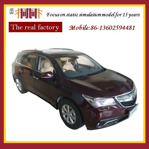 Production and design the manufacturer customized the SUV model car 1/18 scale zinc alloy diecast car for collection and decoration
