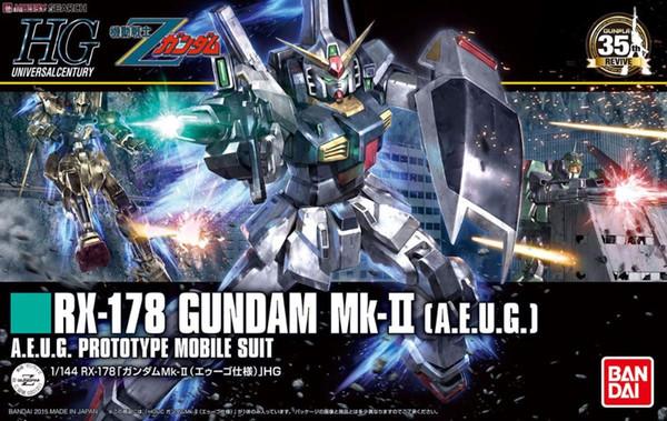 1PCS Bandai HGUC 193 1/144 RX-178 GUNDAM Mk-II Mobile Suit Assembly Model Kits lbx toys Anime action figure TOYS Gunpla