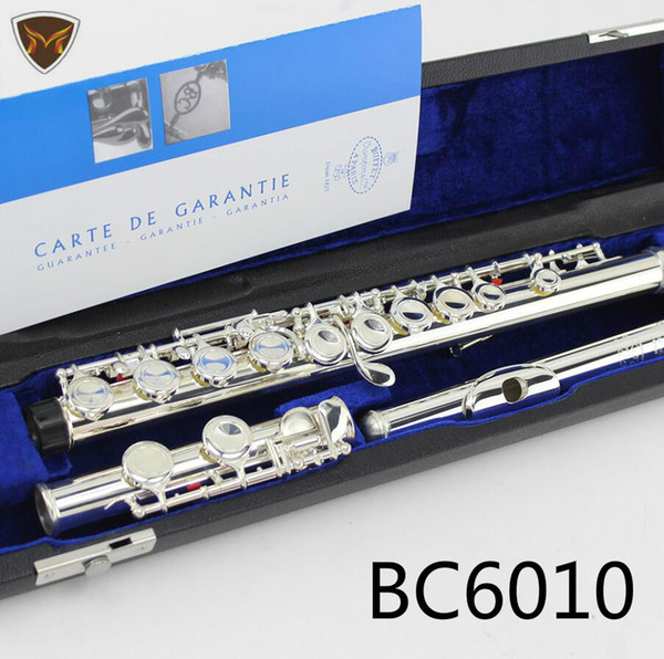 Buffet Crampon & cie APARIS BC6010 Silver Plated Flute 16 Holes Closed Designs C Key Flutes Brand Musical Instrument With Case