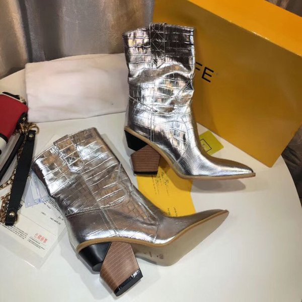 Luxury women Cowboy Boots Thigh High Boots genuine leather 2018 new Brand Fashion Superstars Designer Dress Boots With original box