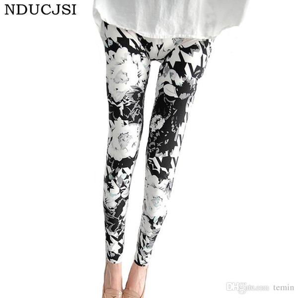NDUCJSI Push Up Shiny Casual High Quality Letter Lipstick Printed Legging Leggings Women Love Fitness Leggins Floral Sexy Pants