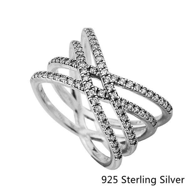 551adde8f Rings Compatible with Pandora Jewelry Cosmic Lines Ring Silver Ring For  Women original 100% 925