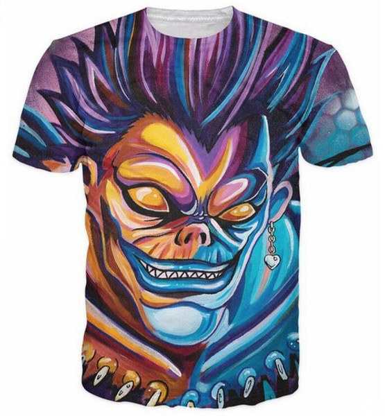 New Fashion 3D Print T-Shirts Uomo / Donna Unisex Serie Anime Death Note Funny Casual Tee Top QA305 all'ingrosso
