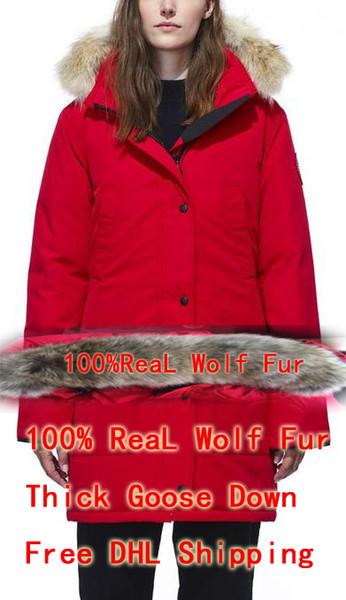 100% real Wolf fur debuts female bomber down coat winter coat arctic parrot navy black green red outdoor coat hoodie