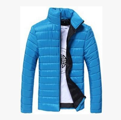 Men Fashion Thin Down Jackets Spring Autumn Coats Solid Color Cotton-padded Jacket Clothing