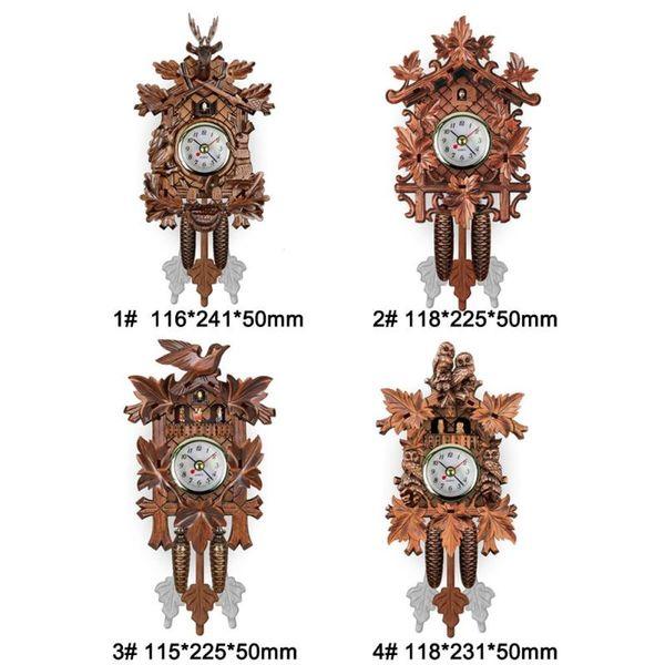 Miraculous Vintage Home Decorative Bird Wall Clock Hanging Wood Cuckoo Clock Living Room Pendulum Craft Art For New House Et Wall Clock On Sale Wall Clock Download Free Architecture Designs Rallybritishbridgeorg