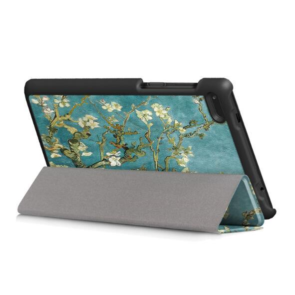 For HUAWEI mediapad T3 7 3G Three fold Fashion Smart Sleep PU Lichee Grain Leather flip Cover Pritting Case