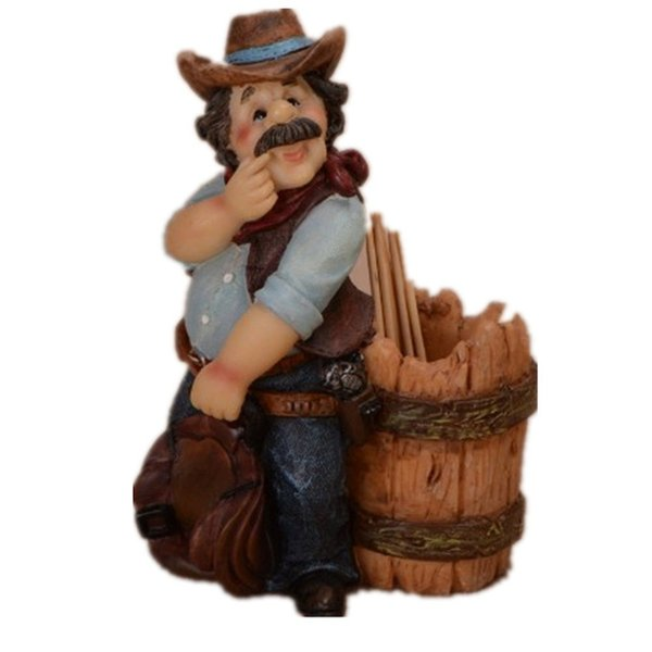 Vente directe d'usine Creative Home Decor Cowboy Antique cure-dents titulaires 72pcs / Carton