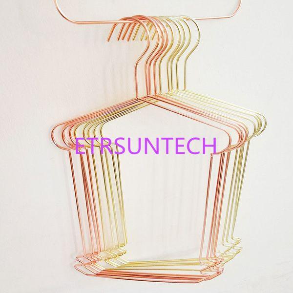 Placcatura in metallo Oro rosa / Golden Hanger Bambini Costume da bagno Swimwear Vestito completo Ferro Appendiabiti QW7992