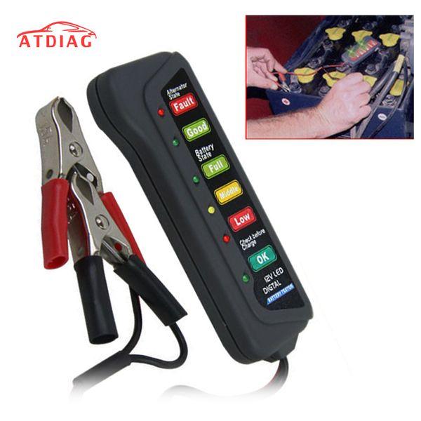 Tester batteria tester tester di capacità digitale per batteria 12V Strumento di misura alimentazione con 6 display a LED