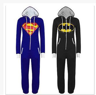 Sexy Halloween Party Trajes Cosplay Unisex Pijama Adulto Pijamas Onesie Das Mulheres Dos Homens Batman Superman One Piece Sleepwear Sleepwear S920