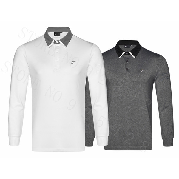 Newest Golf shirts Autumn Long Sleeve Golf Apparel Men Sportswear Outdoor Clothes Men'S Polo Shirts Tops Black Red S~XXL Brand