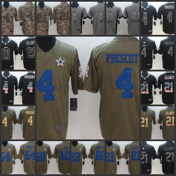 promo code b1e87 50575 2019 Dallas Cowboys Men Women Youth Football Jersey #4 Dak Prescott 21  Ezekiel Elliott 82 Jason Witten Embroidery Jerseys From Outletjersey1,  $22.34 | ...