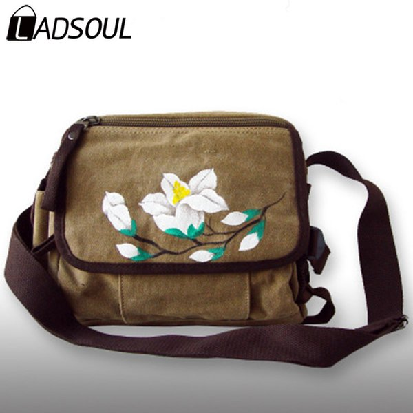 LADSOUL Handbag Chinese Style Women Handbags Landscape Hand Painted Girl Like Bag Women Shoulder Handbags Bags For A4622/h