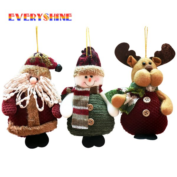 Merry Xmas Christmas Ornaments Supplier Santa Claus Snowman Elk Christmas Tree Hanging Decoration Gift for 2016 Home Decor SD150 Y18102909