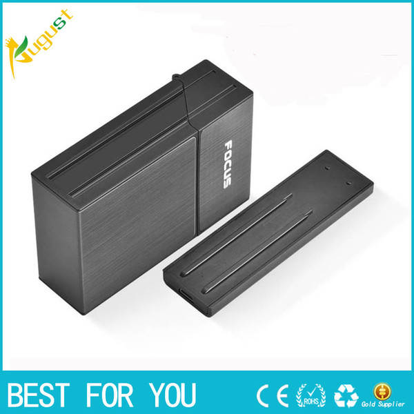 FOCUS Cigarette Case Box Lighter With Flameless Removable Personality Creative USB Lighter Torch Lighter 20pcs Cigarette Holder Case