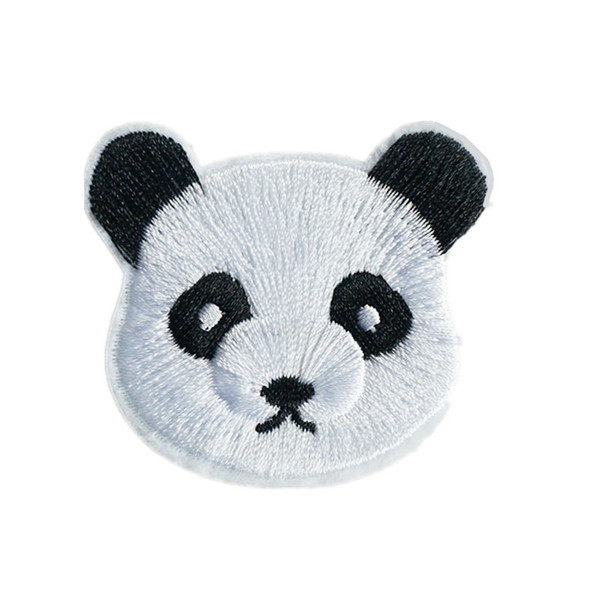 Cute Panda Embroidery Patch Sew Bear Iron On Patches Embroidered Badges For Bag Jeans Hat T Shirt DIY Appliques Craft Decoration