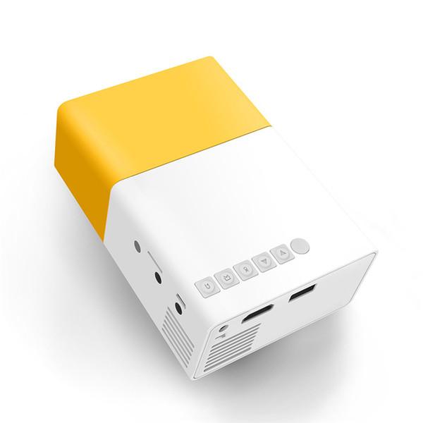Mini proiettore principale domestico di YG300 HD mini, interfaccia ad alta definizione di HDMI, proiettore portatile della batteria del telefono cellulare. Spedizione gratuita!