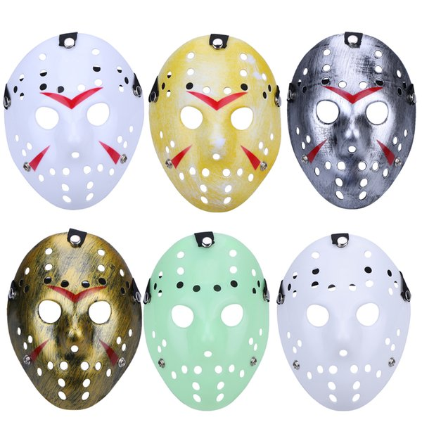 Halloween Mörder Maskerade Masken für Erwachsene Jason Voorhees Schädel Maske Paintball 13. Horror Film Kostüm Cosplay Festival Party Scary Maske