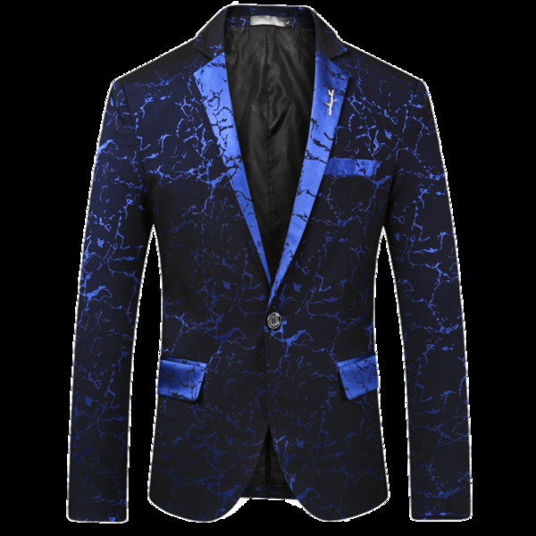 CIGNA Brand Casual Men's Suit Jacket Black Wine Red Navy Blue Slim Fit Male Top Classic Tuxedo Men Flower Blazer Jackets