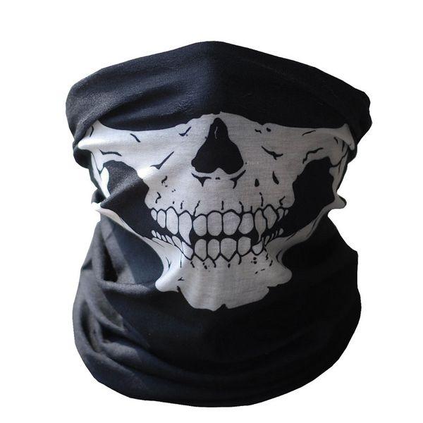 Hot Black Skull Mask Bandana Bike Motorcycle Helmet Neck Face Mask Half Face Paintball Ski Sport Headband Military Game Masks