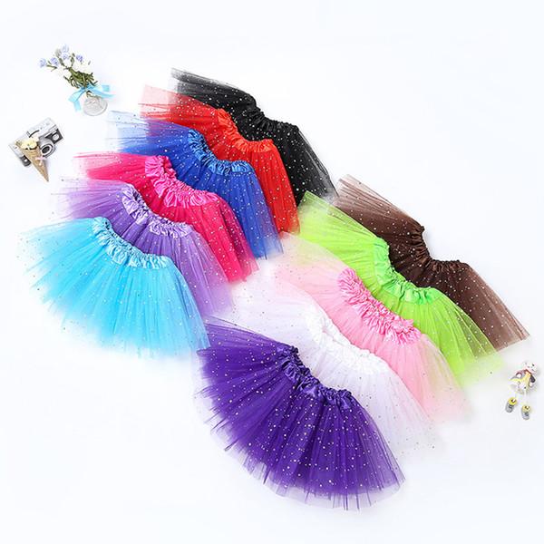 Neonato TUTU Gonne Fashion Net yarn Paillettes stelle neonate Principessa gonna Halloween costume 11 colori per bambini gonna di pizzo C3787