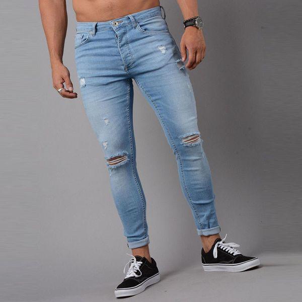 Torn Jeans Men 2018 Casual Denim Pants Slim Jean Homme