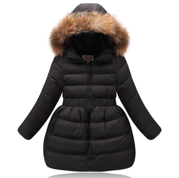 Girls Winter Coat Children Clothing Kids Fake Fur Collar Hooded Thick Overcoat Winter Jackets for Girls Warm Outwear Teens Coat