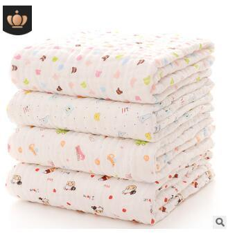 Baby pure cotton bath towel blanket newborn quilt robes six layers good quality bath towles newborn christmas gifts 110x115cm 209